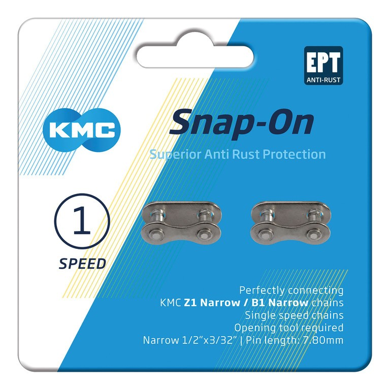 Snap-on locking link for chains 7.3mm narrow