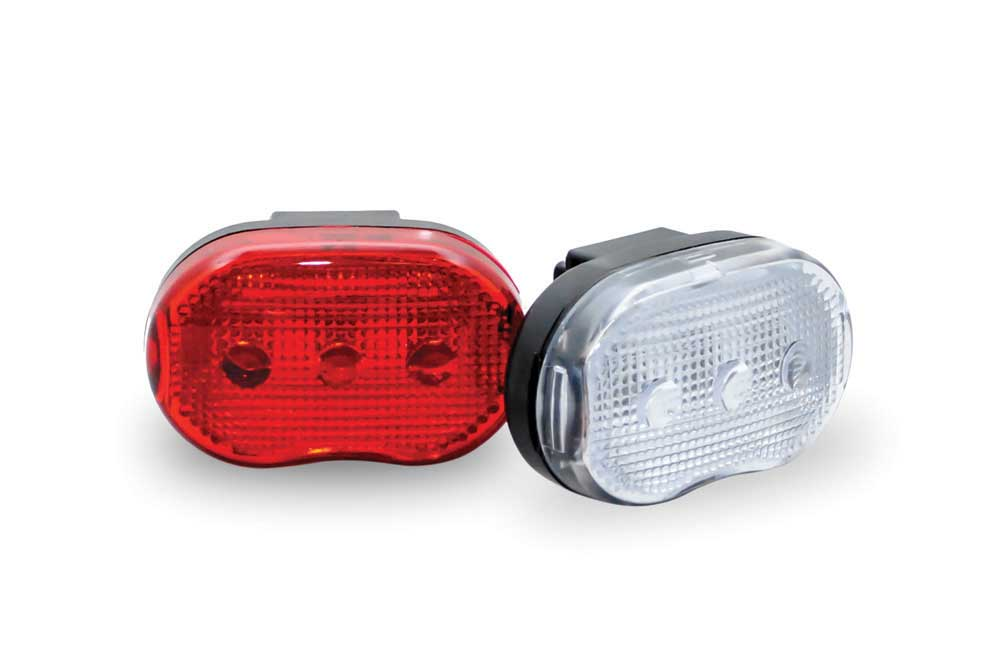 3 led front and rear set